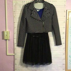 KNITWORKS girl's dress 3 pieces w/jacket sz 16